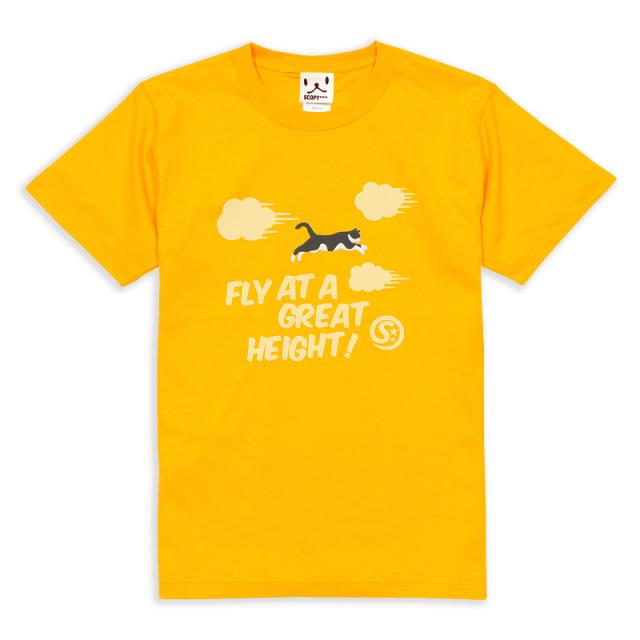 Tシャツ メンズ レディース 半袖 猫 FLY! - ゆうひ ネコ ねこ 猫柄 雑貨 SCOPY スコーピー