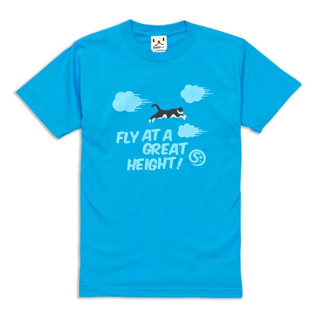 Tシャツ メンズ レディース 半袖 猫 FLY! - あおぞら ネコ ねこ 猫柄 雑貨 SCOPY スコーピー