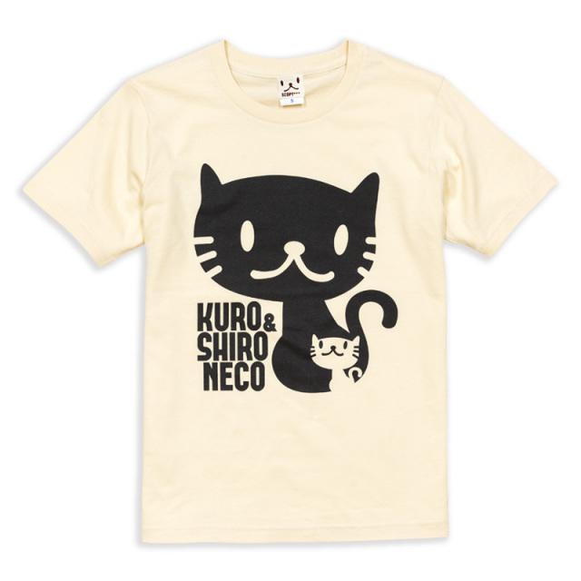 Tシャツ メンズ レディース 半袖 猫 しろ&くろねこさん - ナチュラル ネコ ねこ 猫柄 雑貨 SCOPY スコーピー