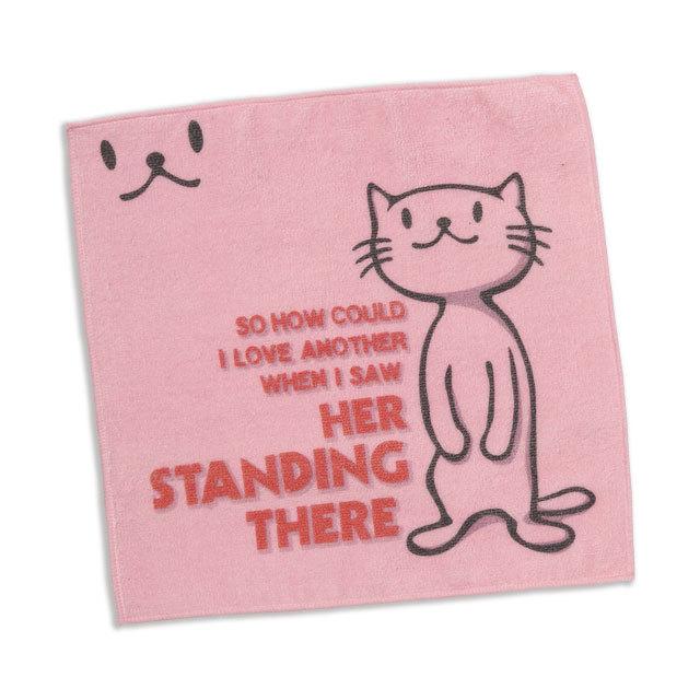 タオル 猫 STANDING THERE ネコ ねこ 猫柄 雑貨 - ミニタオル SCOPY スコーピー