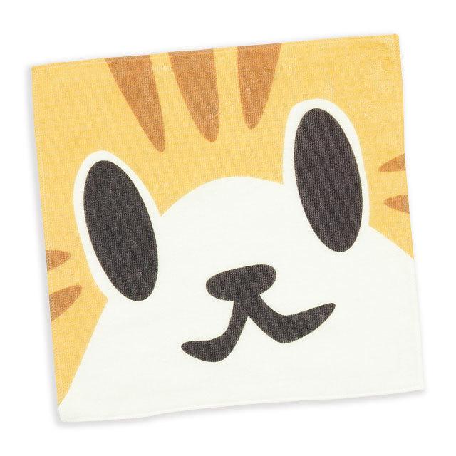 タオル 猫 ねこがお:チャトラ ネコ ねこ 猫柄 雑貨 - ミニタオル SCOPY スコーピー
