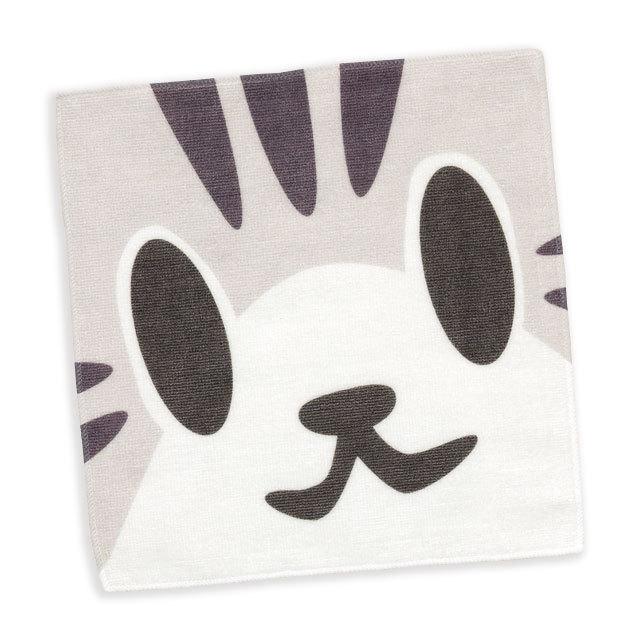 タオル 猫 ねこがお:サバトラ ネコ ねこ 猫柄 雑貨 - ミニタオル SCOPY スコーピー
