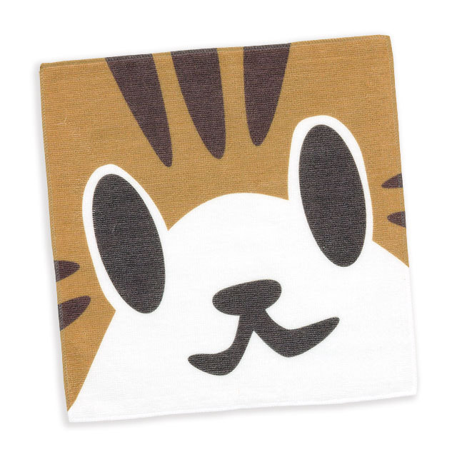タオル 猫 ねこがお:キジトラ ネコ ねこ 猫柄 雑貨 - ミニタオル SCOPY スコーピー