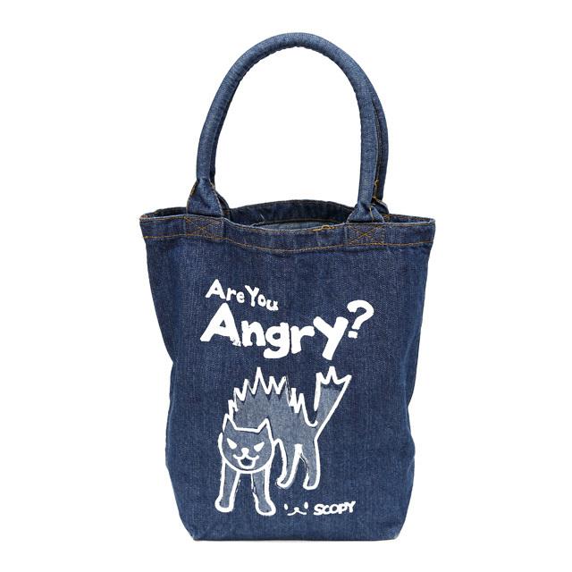 トートバッグ 猫 Are you angry? - デニム ネコ ねこ 猫柄 雑貨 バッグ SCOPY スコーピー