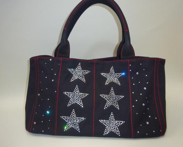 スワロフスキーバッグ 6スター Mサイズ(黒)