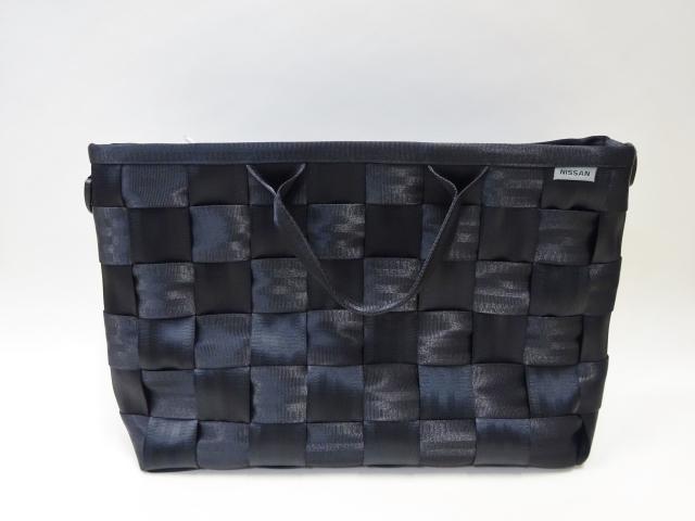 O&E シートベルトバッグ #1361 Business Bag / ビジネスPCバッグ(NISSANモデル):Black x2