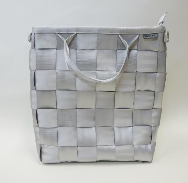 O&E シートベルトバッグ #1486 Lectangle Bag / 縦型バッグ(NISSANモデル):Silver x2