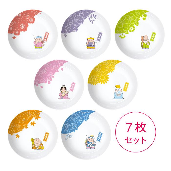3ポイント景品 J お花と七福神小皿