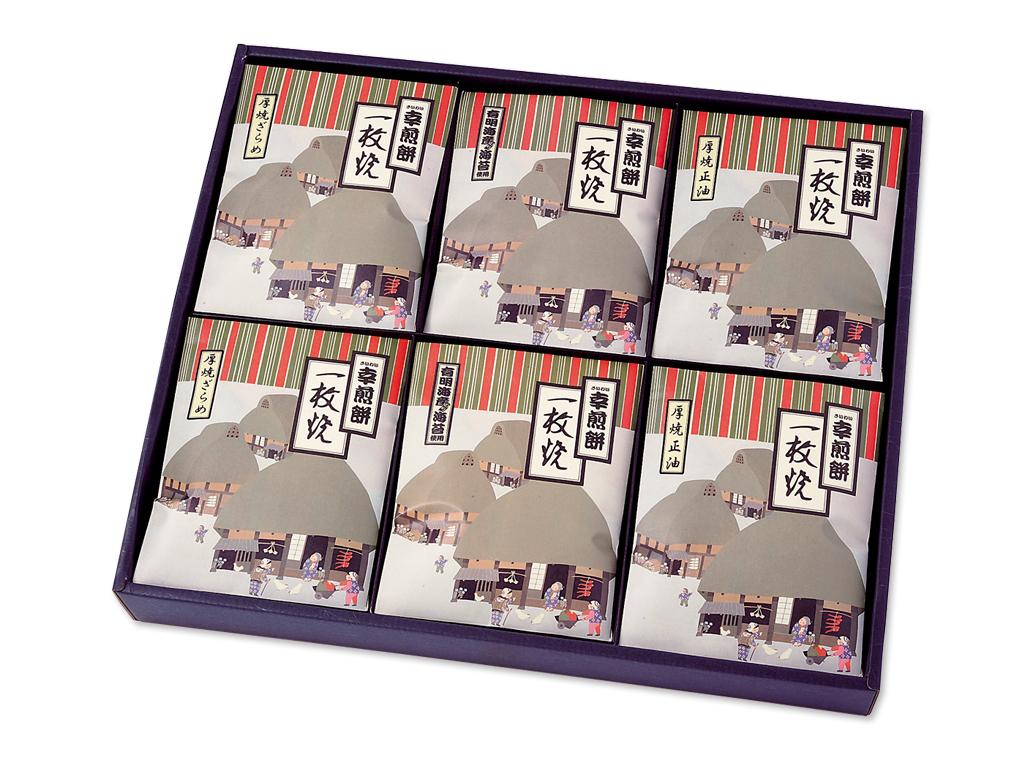 KK-6 一枚焼[箱入/3種x6枚 計18枚]