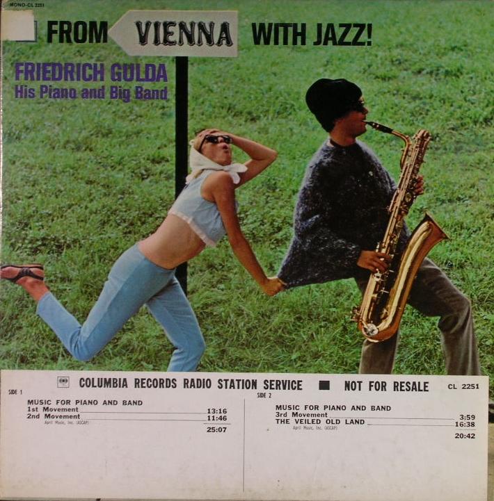 白プロモ盤 Friedrich Gulda His Piano And Big Band フリードリヒ・グルダ/ Vienna With Jazz