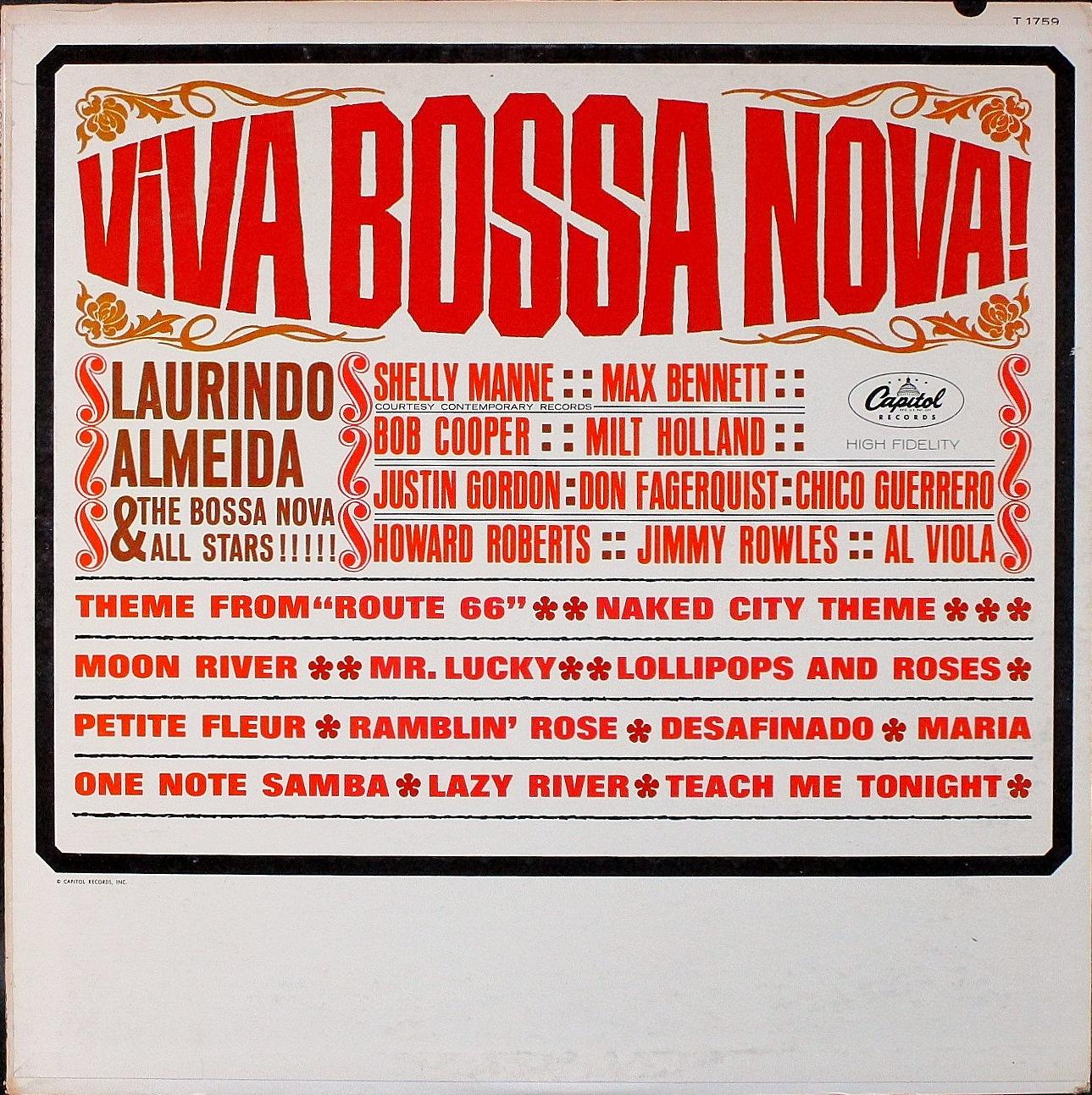 Laurindo Almeida & The Bossa Nova Allstars ローリンド・アルメイダ&ボサノヴァ・オールスターズ / Viva Bossa Nova!