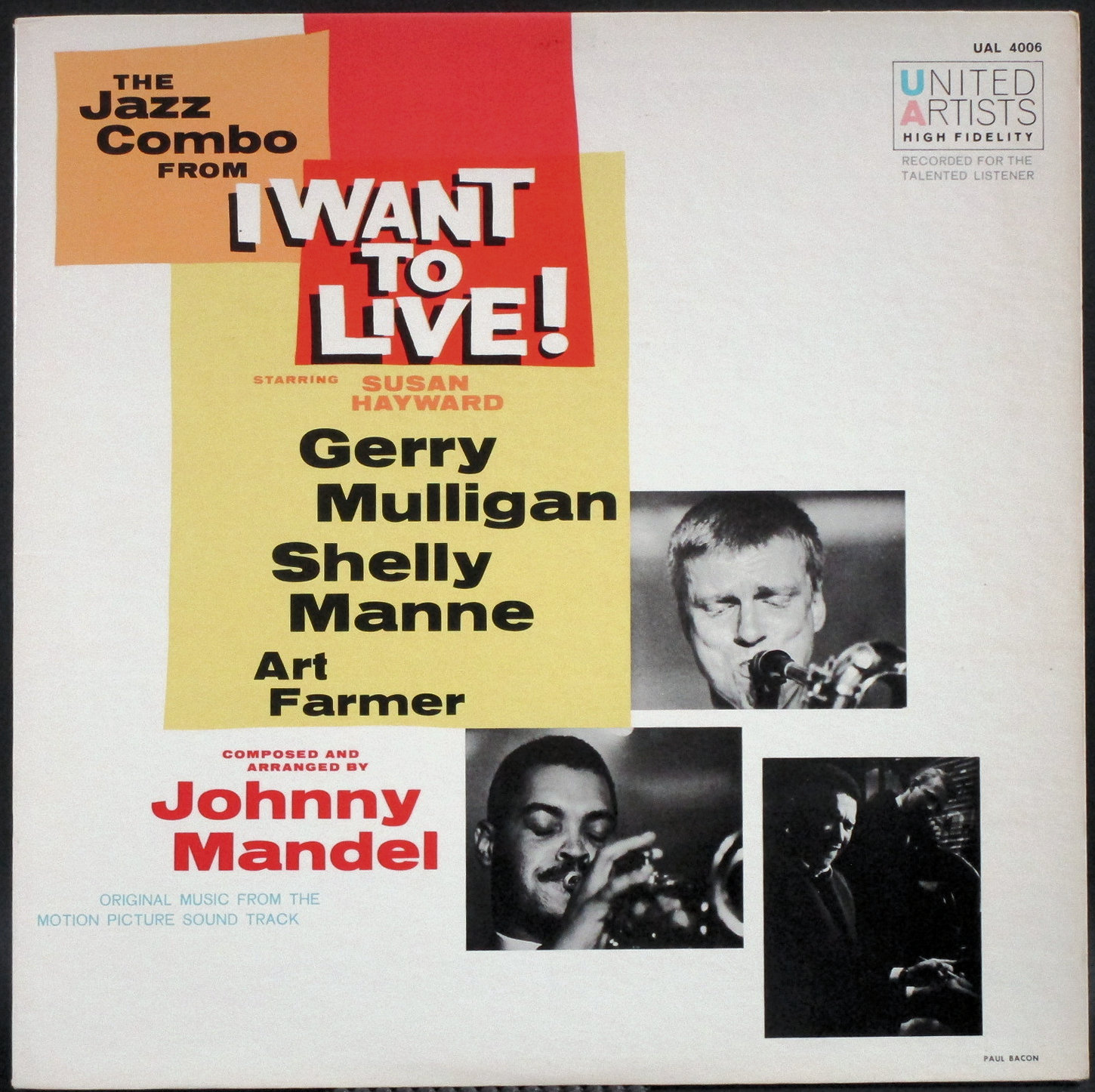 """Gerry Mulligan  ジェリー・マリガン / Gerry Mulligan's Jazz Combo From """"I Want To Live!"""" 