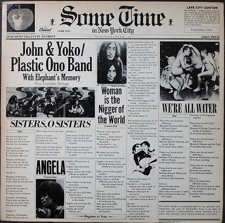 John Lennon & Yoko Ono ジョン・レノン / Some Time In New York City UK盤