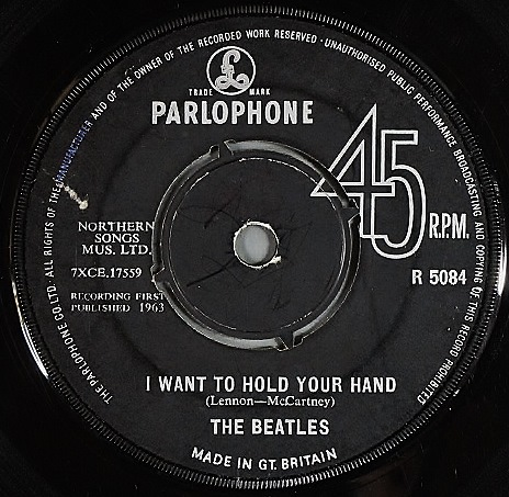 "Beatles ザ・ビートルズ / I Want To Hold Your Hand 7"" UK盤"
