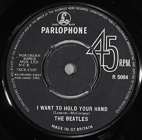 """Beatles ザ・ビートルズ / I Want To Hold Your Hand 7"""" UK盤"""