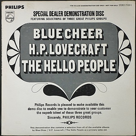 Blue Cheer, H.P. Lovecraft, The Hello People / Special Dealer Demonstration Disc
