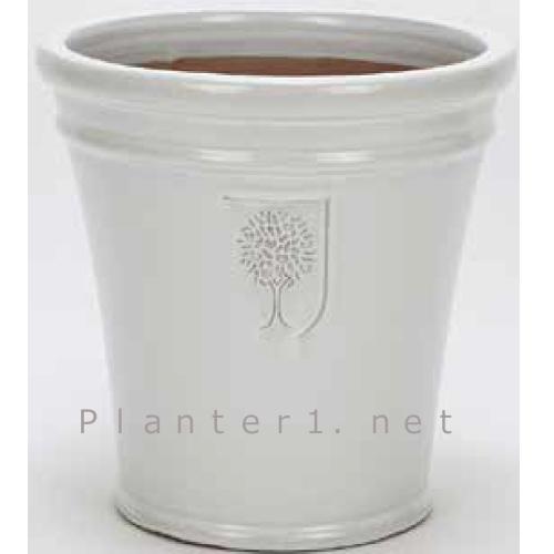 イギリスRHS・プレミアム釉薬鉢・マリナー 40cm (ホワイト) (SS-SPK-RH04L-WT)