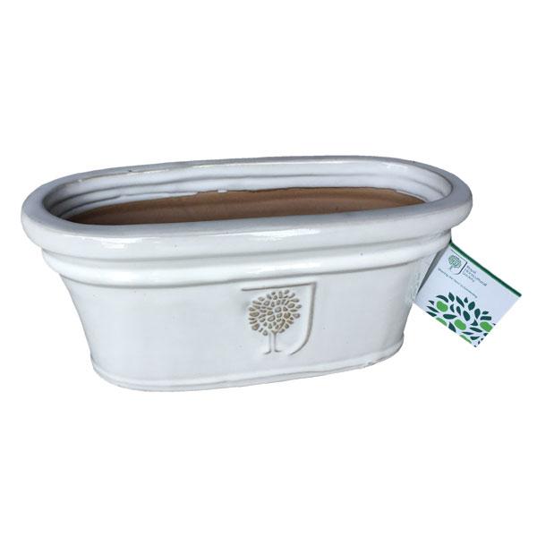 イギリスRHS・プレミアム釉薬鉢・オーバル 31.5cm (SS-SPK-RH15M)