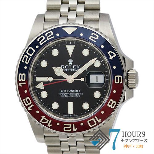 【103288】ROLEX ロレックス 126710BLRO GMTマスター2 青赤ベゼル ブラックダイヤル  SS 自動巻き 純正ボックス ギャランティーカード