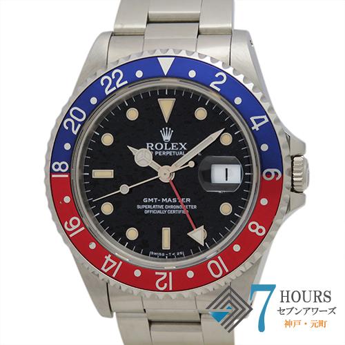 【88091】ROLEX ロレックス 16700 GMTマスター ブラックダイヤル N番 SS 青赤ベゼル 自動巻き