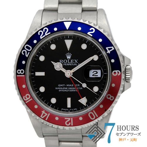 【95708】ROLEX ロレックス 16700 GMTマスター S番 青赤ベゼル シングルバックル SS 自動巻き 保証書
