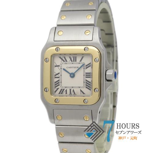 【98949】Cartier カルティエ W20012C4 サントスガルベSM ホワイトローマン YG SS 電池式
