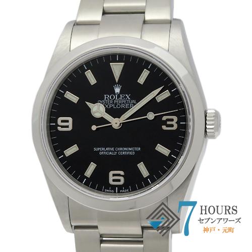 【100164】ROLEX ロレックス 114270 エクスプローラー1 ブラックダイヤル Y番 SS 自動巻き 保証書