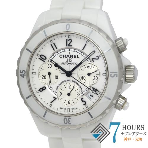 【100635】CHANEL シャネル H1007 J12 クロノグラフ 41mm ホワイト ホワイトダイヤル CE 自動巻き
