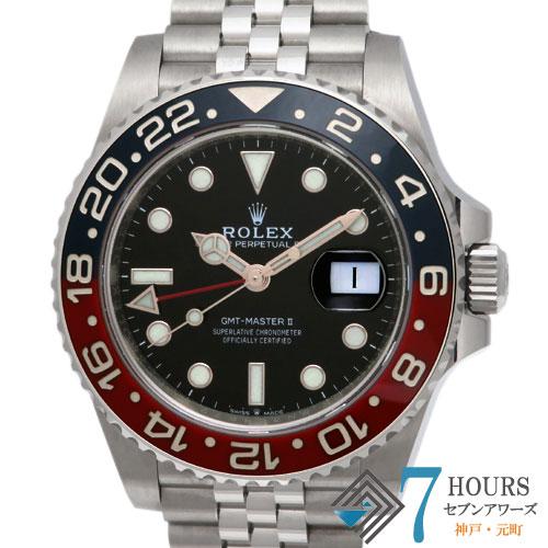 【100864】ROLEX ロレックス 126710BLRO GMTマスター2 青赤ベゼル ブラックダイヤル SS 自動巻き ギャランティーカード