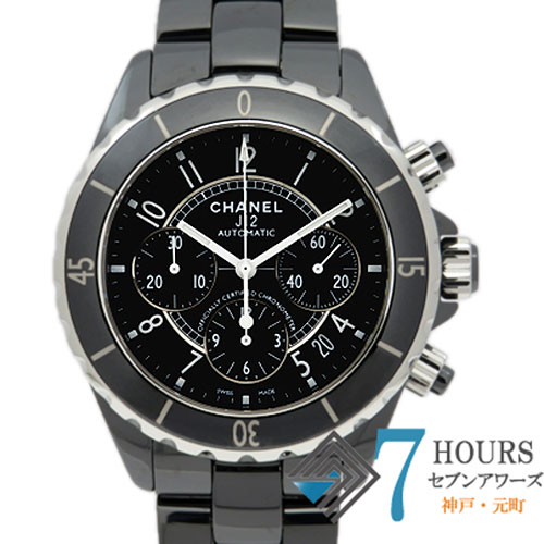 【100877】CHANEL シャネル H0940 J12 クロノグラフ 41mm ブラックダイヤル CE 自動巻き