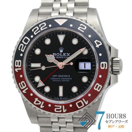 【100883】ROLEX ロレックス 126710BLRO GMTマスター2 青赤ベゼル ブラックダイヤル SS 自動巻き ギャランティーカード