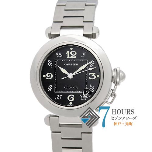 【100901】Cartier カルティエ パシャCデイト W31043M7 ブラックダイヤル SS 自動巻き  保証書 純正ボックス