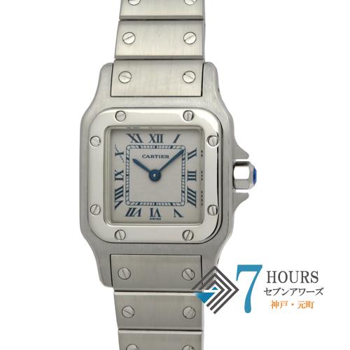 【101314】Cartier カルティエ W20017D6 サントスガルベ ホワイトダイヤル SS 電池式