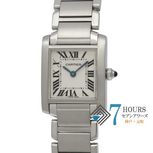 【101348】Cartier カルティエ W51008Q3 タンクフランセーズSM ホワイトダイヤル SS 電池式 保証書