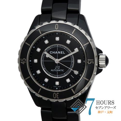 【101861】CHANEL シャネル H1626 J12 38mm ブラック ブラックダイヤル 12Pダイヤ セラミック 自動巻き