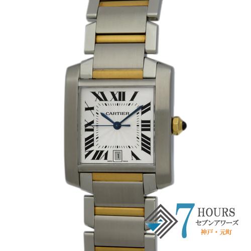 【101982】Cartier カルティエ W51005Q4 タンクフランセーズLM シルバーダイヤル イエローゴールド ステンレス 自動巻き