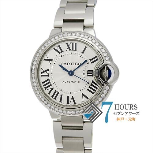 【102578】Cartier カルティエ W4BB0016 バロンブルー ベゼルダイヤ シルバーダイヤル  SS 自動巻き