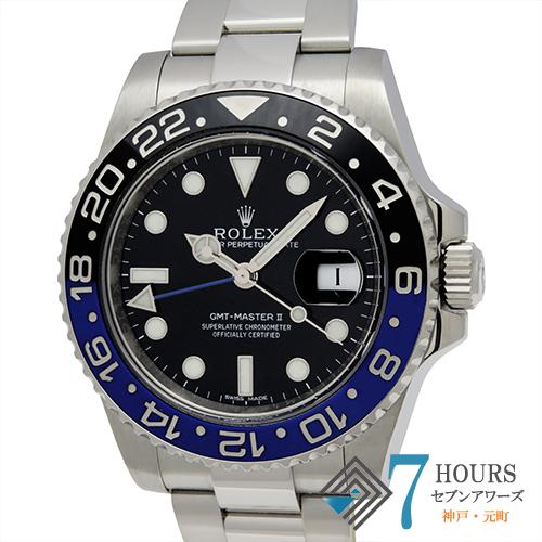 【102604】ROLEX ロレックス 116710BLNR GMTマスター2 ランダム番 SS 青黒ベゼル ブラックダイヤル 自動巻き