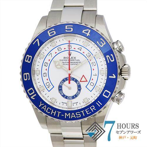 【102610】ROLEX ロレックス 116680 ヨットマスター2 ホワイトダイヤル ランダム番 SS 自動巻き ギャランティーカード