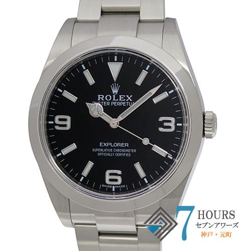 【102737】ROLEX ロレックス 214270 エクスプローラー ランダム番 ブラックダイヤル SS 自動巻き ギャランティーカード