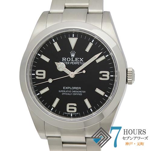 【103037】ROLEX ロレックス 214270 エクスプローラー ランダム番 ブラックダイヤル SS 自動巻き ギャランティーカード