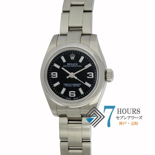 【72491】ROLEX ロレックス 176200 オイスターパーペチュアル ランダム番  SS ブラックダイヤル 自動巻き