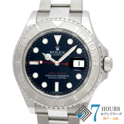 【96553】ROLEX ロレックス 116622 ヨットマスター ブルー ランダム番 PT/SS 自動巻き ギャランティーカード