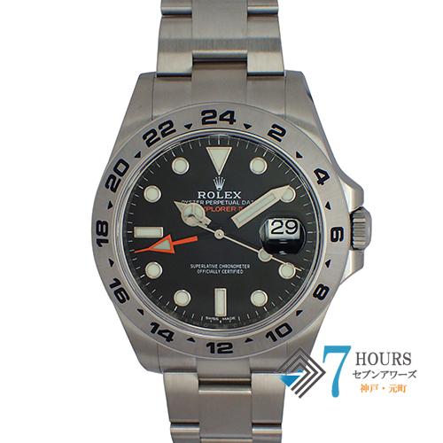 【97138】ROLEX ロレックス 216570 エクスプローラー2 ランダム番 ブラックダイヤル SS 自動巻き ギャランティーカード
