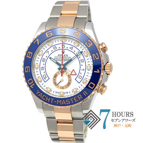 【97938】ROLEX ロレックス 116681 ヨットマスター2 ランダム番 ホワイトダイヤル PG/SS 自動巻き ギャランティーカード
