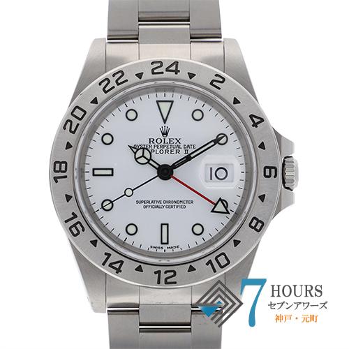 【98411】ROLEX ロレックス 16570 エクスプローラ2 A番 ホワイトダイヤル SS 自動巻き 保証書