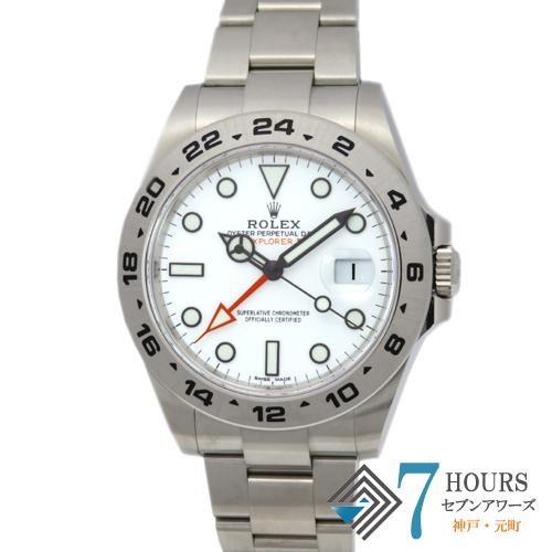 【98501】ROLEX ロレックス 216570 エクスプローラー2 ランダム番 ホワイトダイヤル SS 自動巻き ギャランティーカード