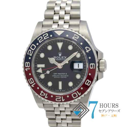 【98623】ROLEX ロレックス 126710BLRO GMTマスター2 青赤ベゼル ランダム番 SS 自動巻き 純正ボックス ギャランティーカード