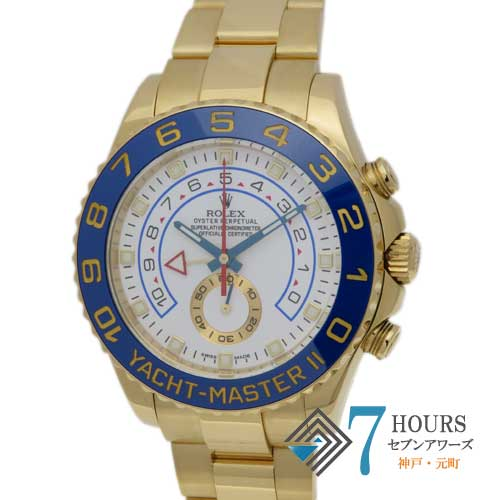 【98627】ROLEX ロレックス 116688 ヨットマスター2 ランダム番 ホワイトダイヤル YG 自動巻き