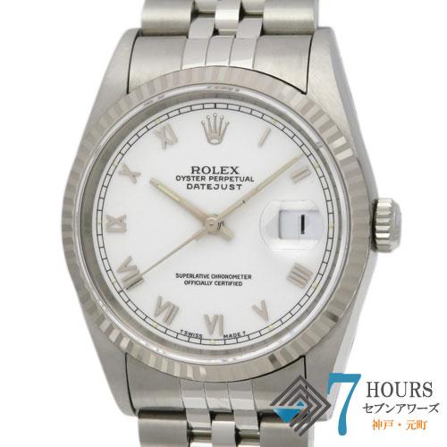 【99649】ROLEX ロレックス 16234 デイトジャスト S番 ホワイトダイヤル ノンポリッシュ 純正ボックス 保証書